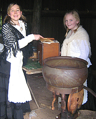 Mont De Lancey Education Centre - Students Churning Butter